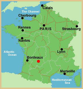 weather map of france